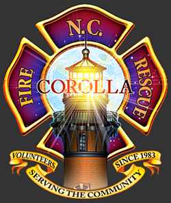 Corolla Fire Rescue Badge Logo